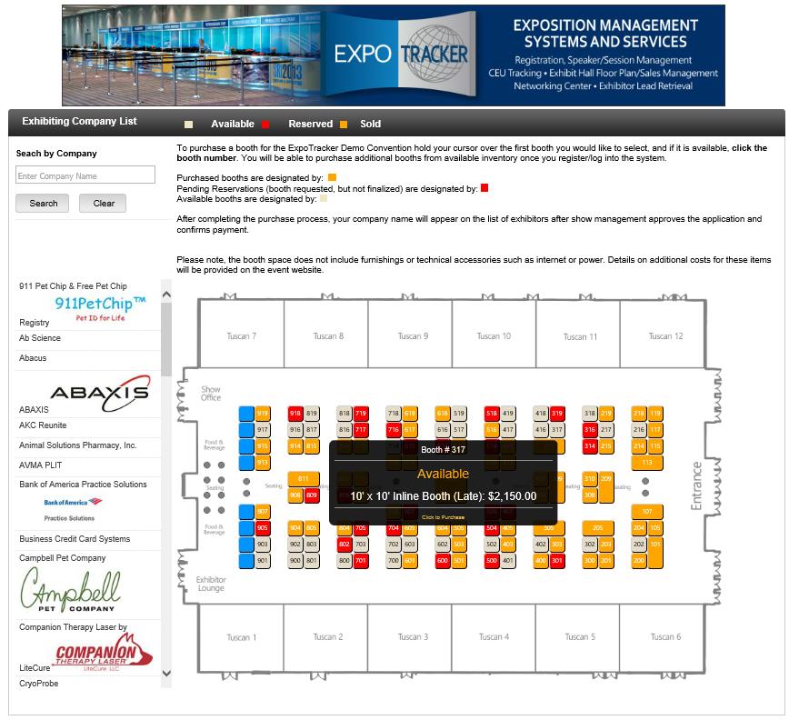 Interactive exhibition floor plan software thefloors co for Quick floor plan maker
